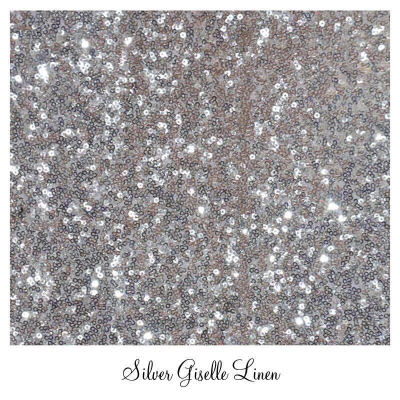 #www.Luxeeventlinen.com Silver Glitter Linen