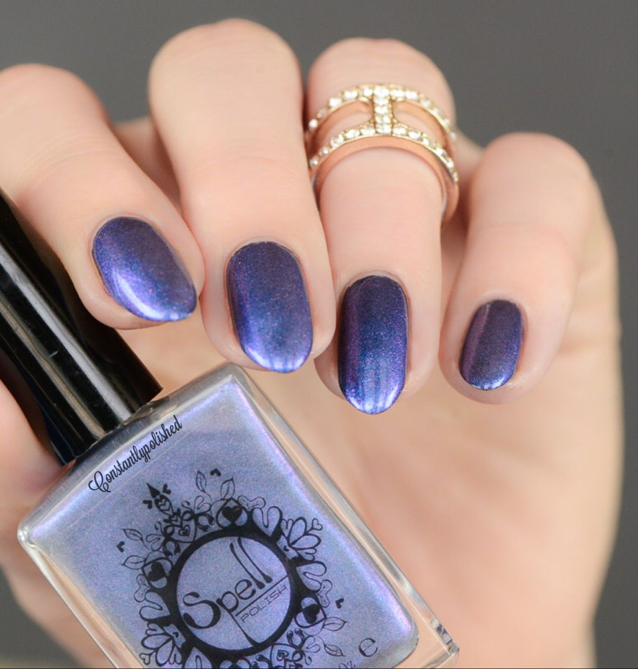 Heaven\'s Door~ is an iridescent top coat with lots of sparkle. Here ...