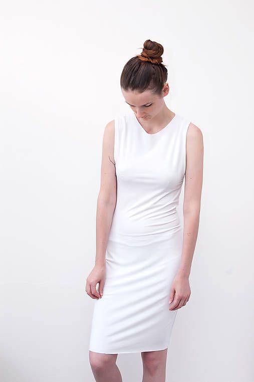 Katoo / Polodlouhé Šaty z bílého úpletu