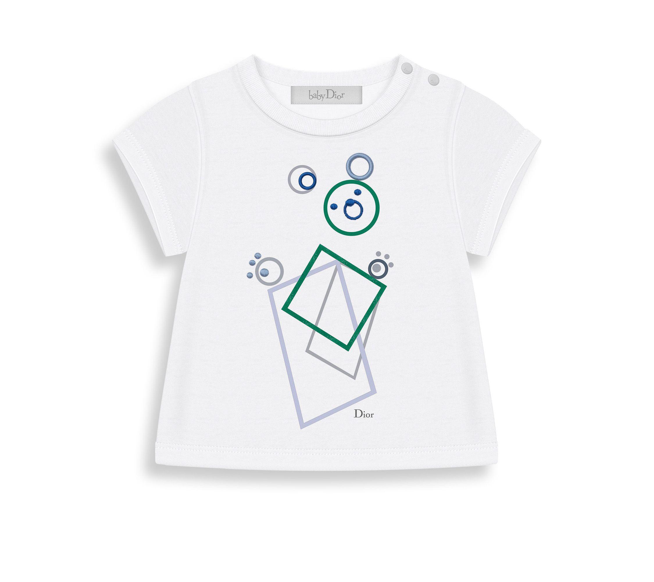 876c4e5700942 Tee-shirt manches longues en jersey de coton imprimé - Dior   Bébé ...