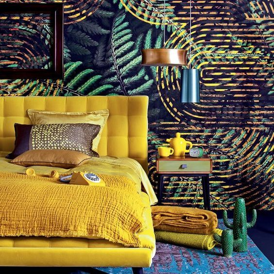 urban jungle ambiance tropicale deco chambre parentale pinterest decoration d coration. Black Bedroom Furniture Sets. Home Design Ideas