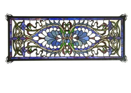 Meyda Tiffany 78104 Meyda Tiffany 78104 Antoinette Transom Stained Glass Window in Copperfoil finish