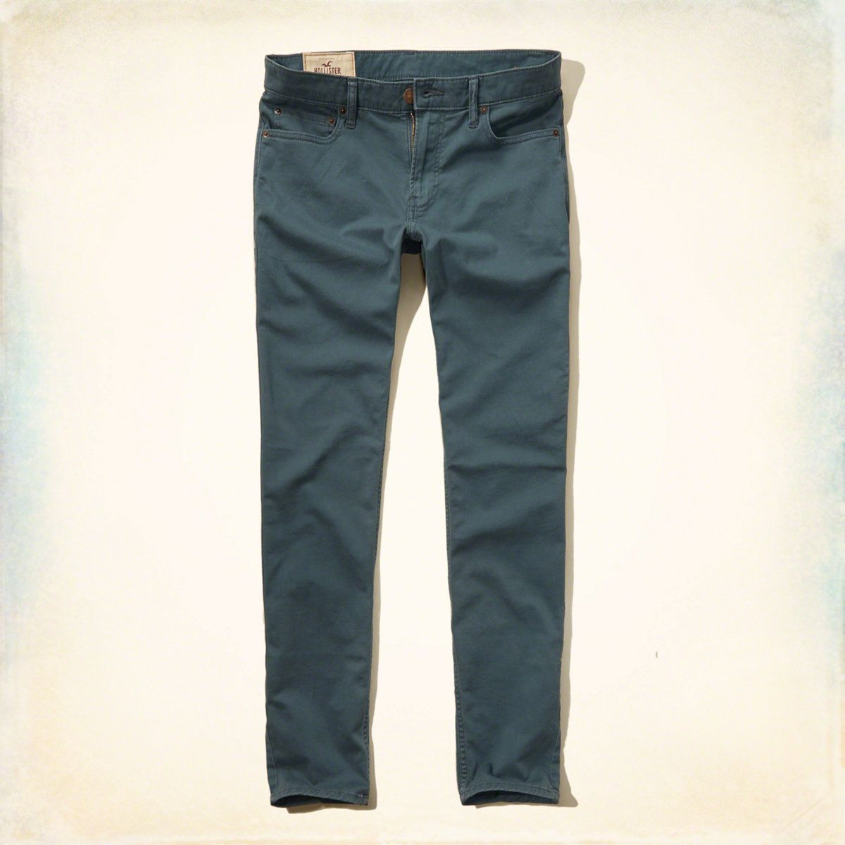 Guys Hollister Super Skinny 5 Pocket Zip Fly Pants | Dress to thrill in  this super