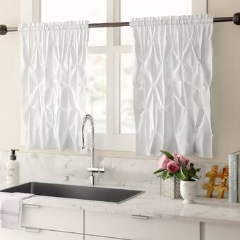 Sweet Home Collection Chic Sheer Voile Vertical Ruffle Window Kitchen Tier Curtain Reviews Wayfair In 2019 Kitchen Curtains Kitchen Valances Curtains