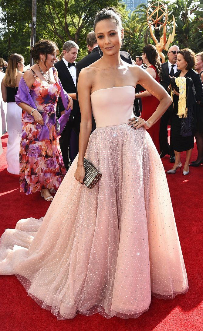 The Emmys\' Most Gorgeous Gowns | Pinterest | Thandie newton, Jason ...