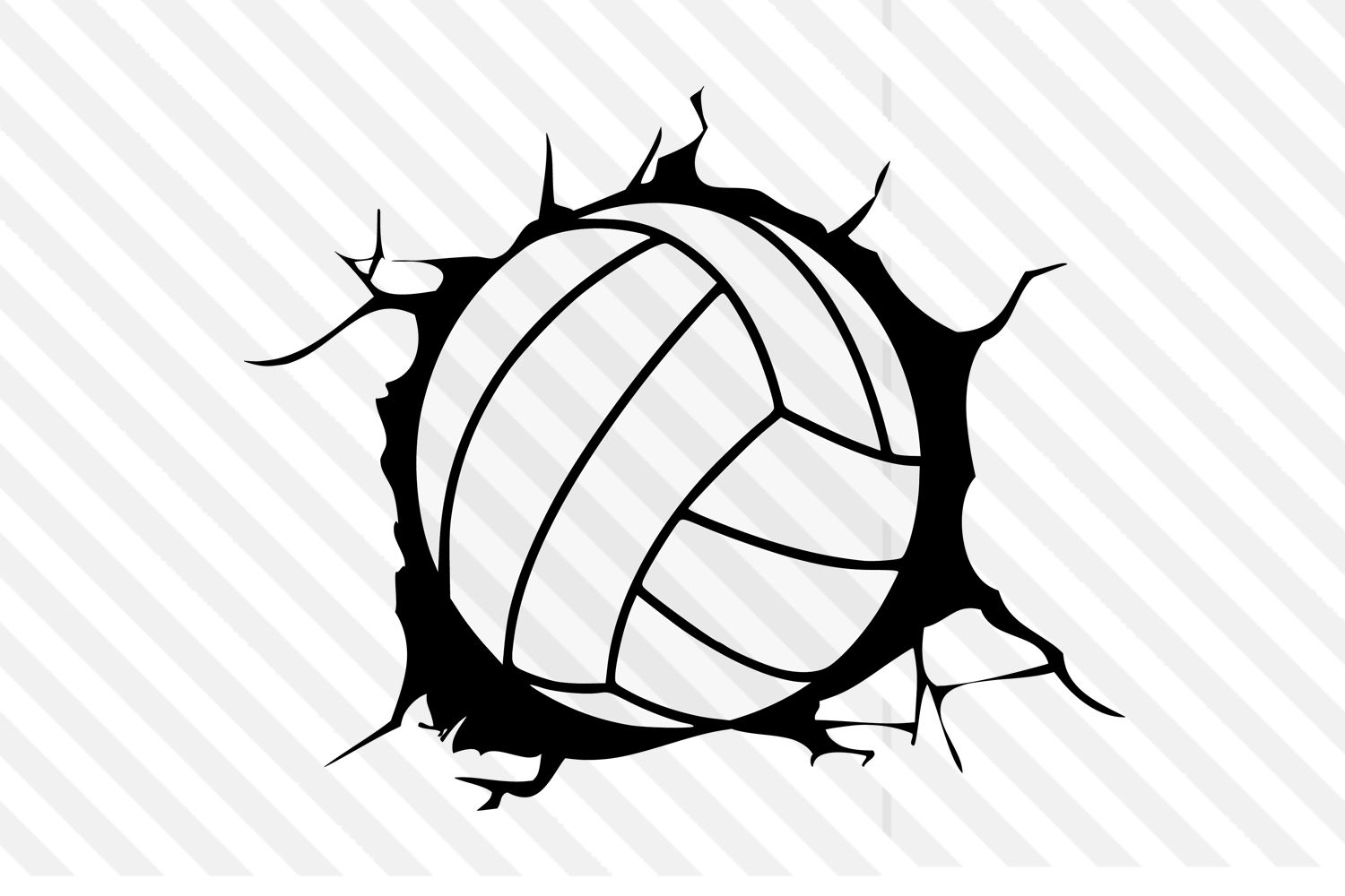 Volleyball Design Svg Dxf Vector Logo Graphic By Johanruartist Creative Fabrica In 2020 Volleyball Designs Vector Logo Logo Graphic
