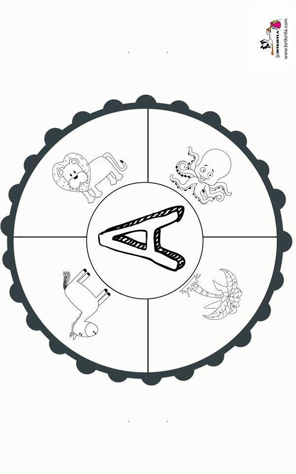 A Harfi Mandala Okul Oncesi Etkinlik Kirtkirtla Alfabe Calisma Sayfalari Okul Alfabe Boyama Sayfalari