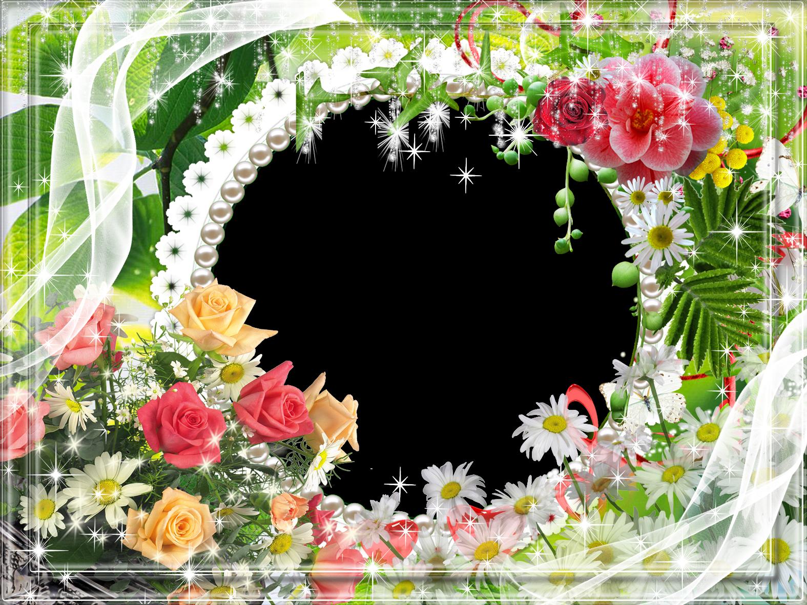 Transparent Flower Photo Frame