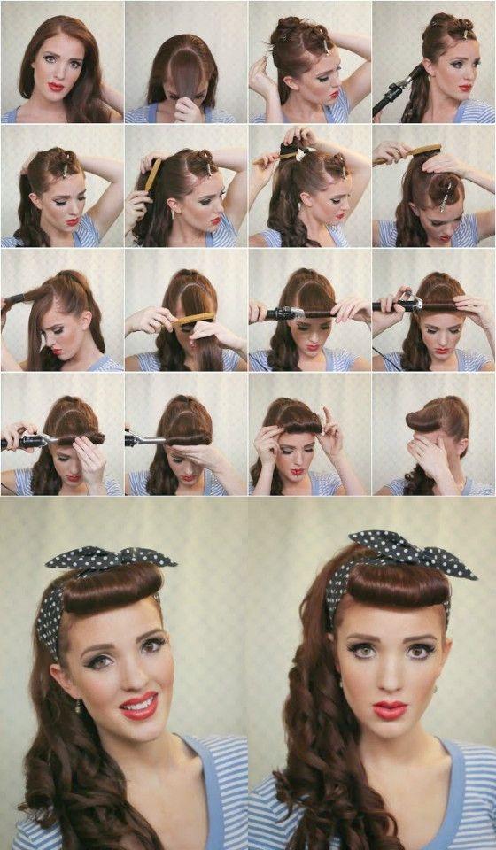 14 Super Leichte Frisuren Fur Ihren Alltag 50er Jahre Frisur Vintage Frisuren Rockabilly Frisur