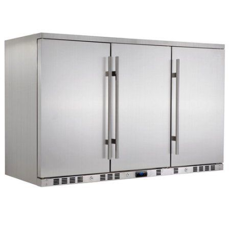 260 Can Stainless Steel Outdoor Beverage Fridge Silver Stainless