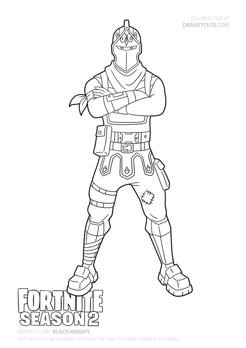 Black Knight Skin Fortnite Fortnitebattleroyale Drawitcute Howtodraw Coloringpages Fanart Wallpaper Blackest Knight Coloring Pages Cute Coloring Pages