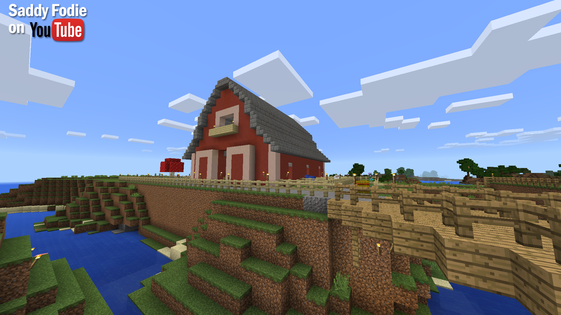 Great Open Minecraft Barn Idea To Keep Your Pigs Sheep Cows And Horses Together Minecraft Barn House Styles Mansions