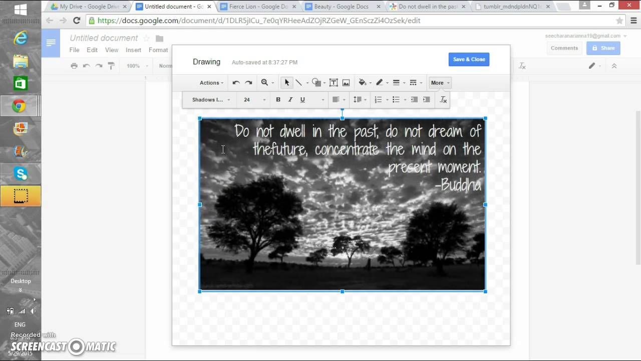 How to write in a picture on google docs google docs