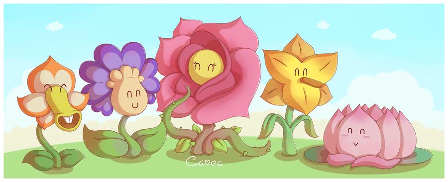 Flower Fields By Caveaiantart On Deviantart Paper Mario