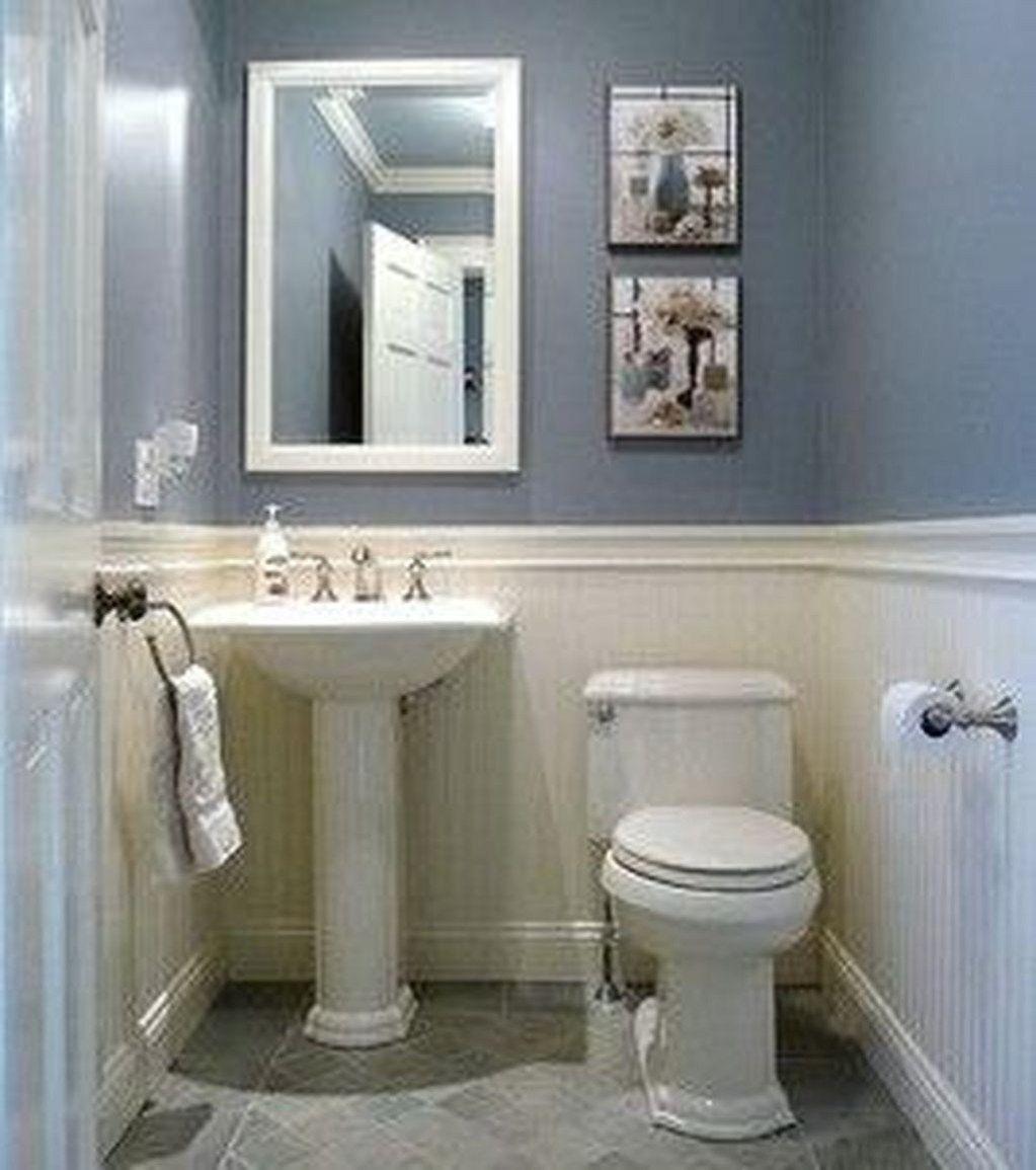 49 Stunning Small Half Bathroom Designs Ideas With Images Small Half Bathrooms Small Half Baths Half Bath Remodel