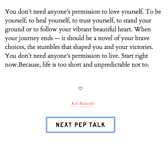 This Pep Talk Generator Is Here To Fix Your Bad Day Books Worth Gorgeous Pep Talk Quotes