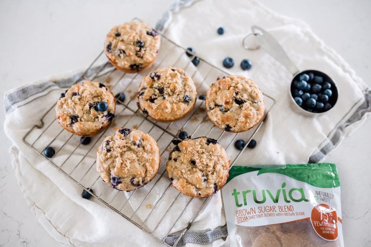 Blueberry oatmeal yogurt breakfast muffins oatmeal