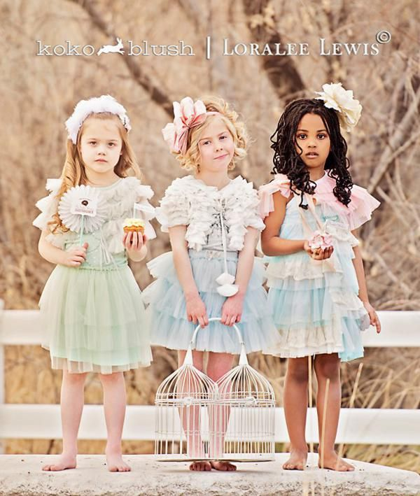a3f9e7cf3 Gorgeous party attire for little girls (and boys) by Koko Blush! Adorable  spring party via Kara's Party Ideas KarasPartyIdeas.com