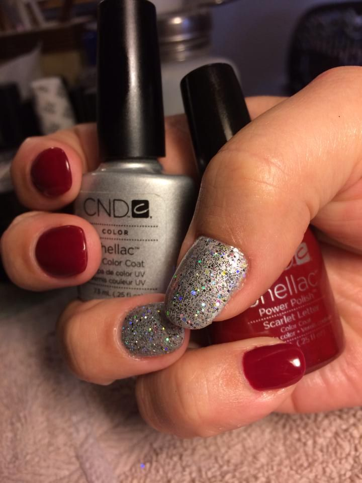 Shellac Gel Nails Christmas Glitter