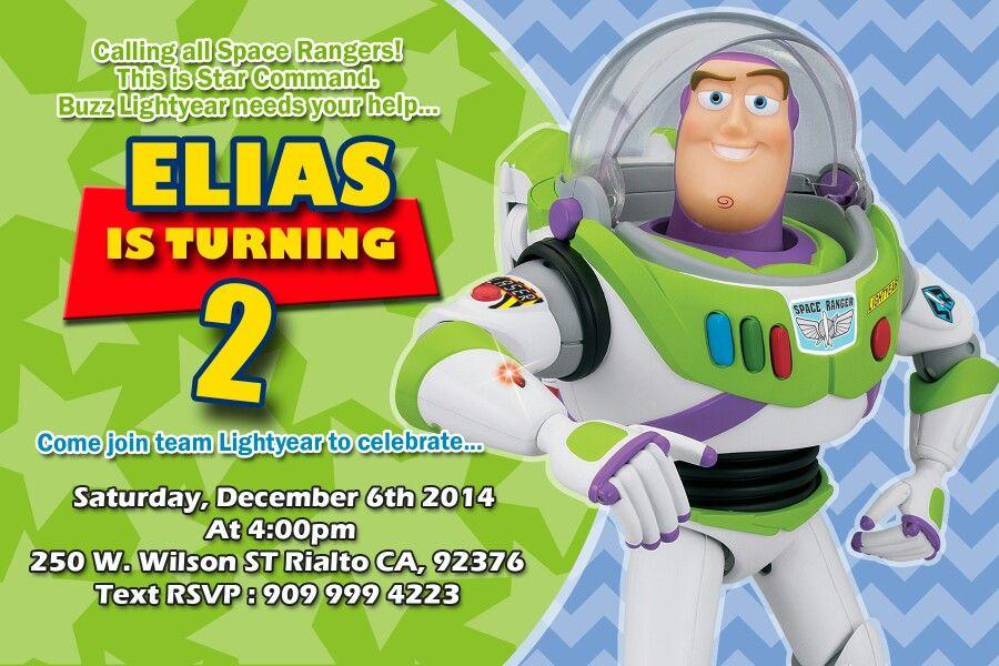 Buzz Lightyear Invitation Invitacion Cumpleaños Niño