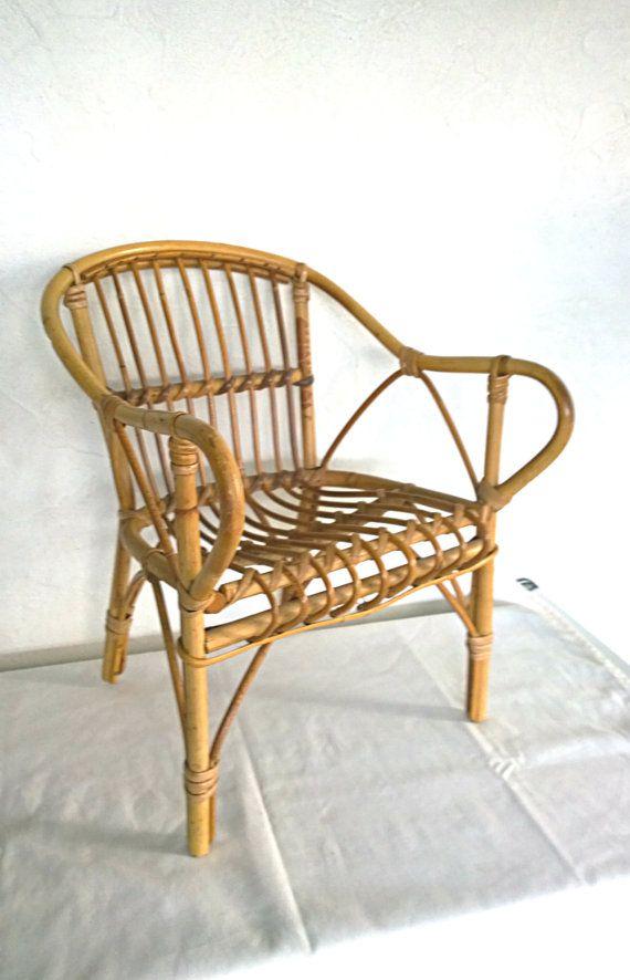 fauteuil bambou rotin vintage enfant par aepplevintage sur etsy rotin bambou fauteuil millsime - Fauteuil Bambou