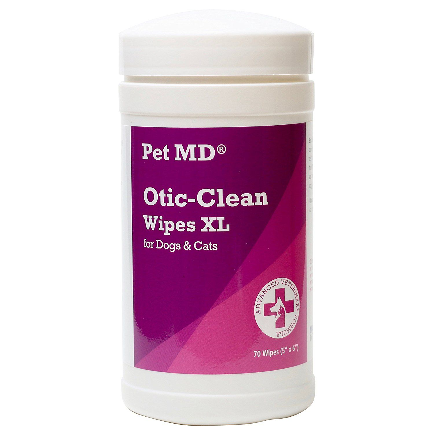 Pet MD Cat and Dog Ear Wipes Otic Clean Ear Cleaner Wipes