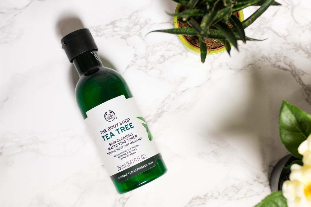 My vegan skincare routine body shop tea tree the body