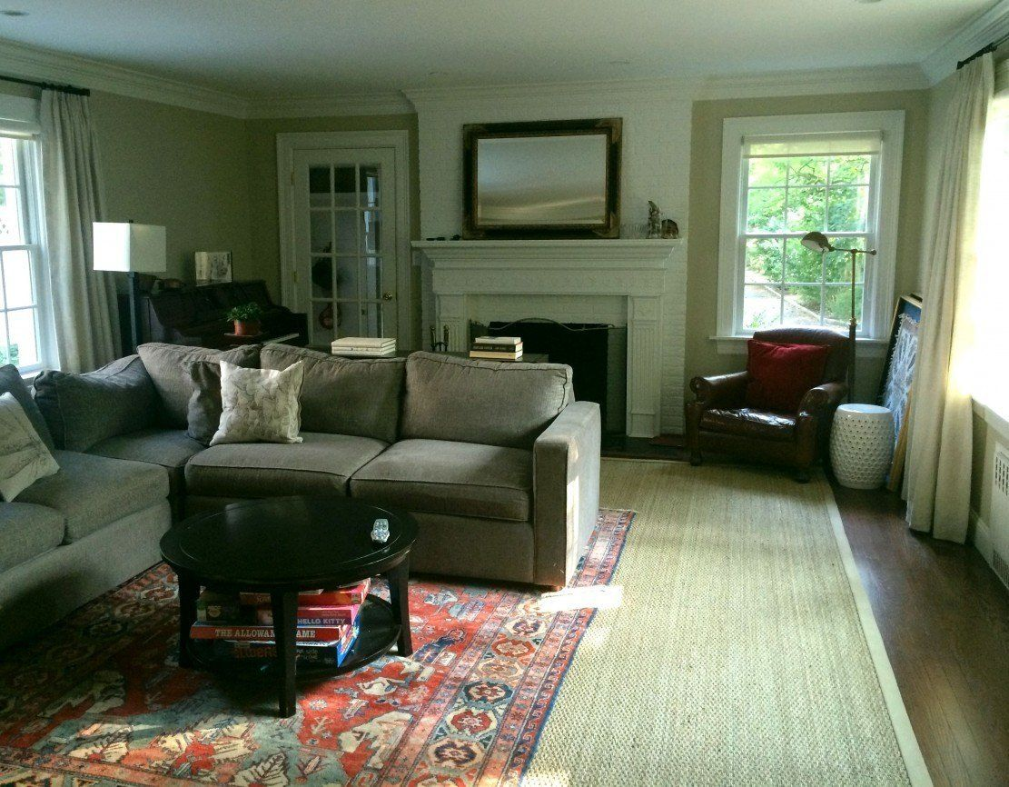 My Area Rug Is Too Small! Now What?   Rugs in living room ...