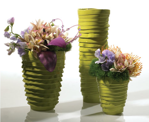 Ruffled ceramic vases by Artsi
