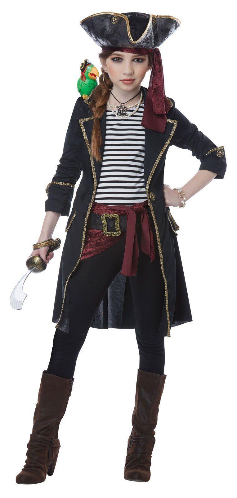 Картинка одежды капитана пирата девушка