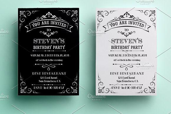 Vintage Birthday Invitation @creativework247 Invitation Cards - best of birthday invitation card write up