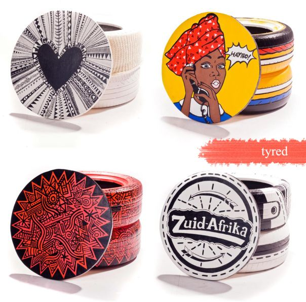 The Design Tabloid Tyred Designer Recycled Tyre Stools