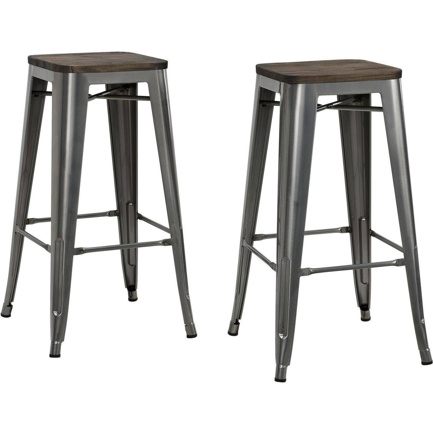 Home (With images) Backless bar stools, Metal counter
