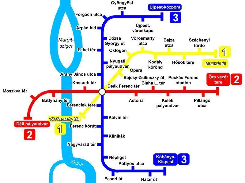 Budapest Metro Lines Map Schedule And Price Of The Metro
