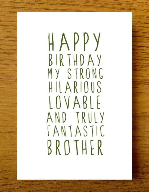 Sweet Description Happy Birthday Brother Card Quotes Pinterest
