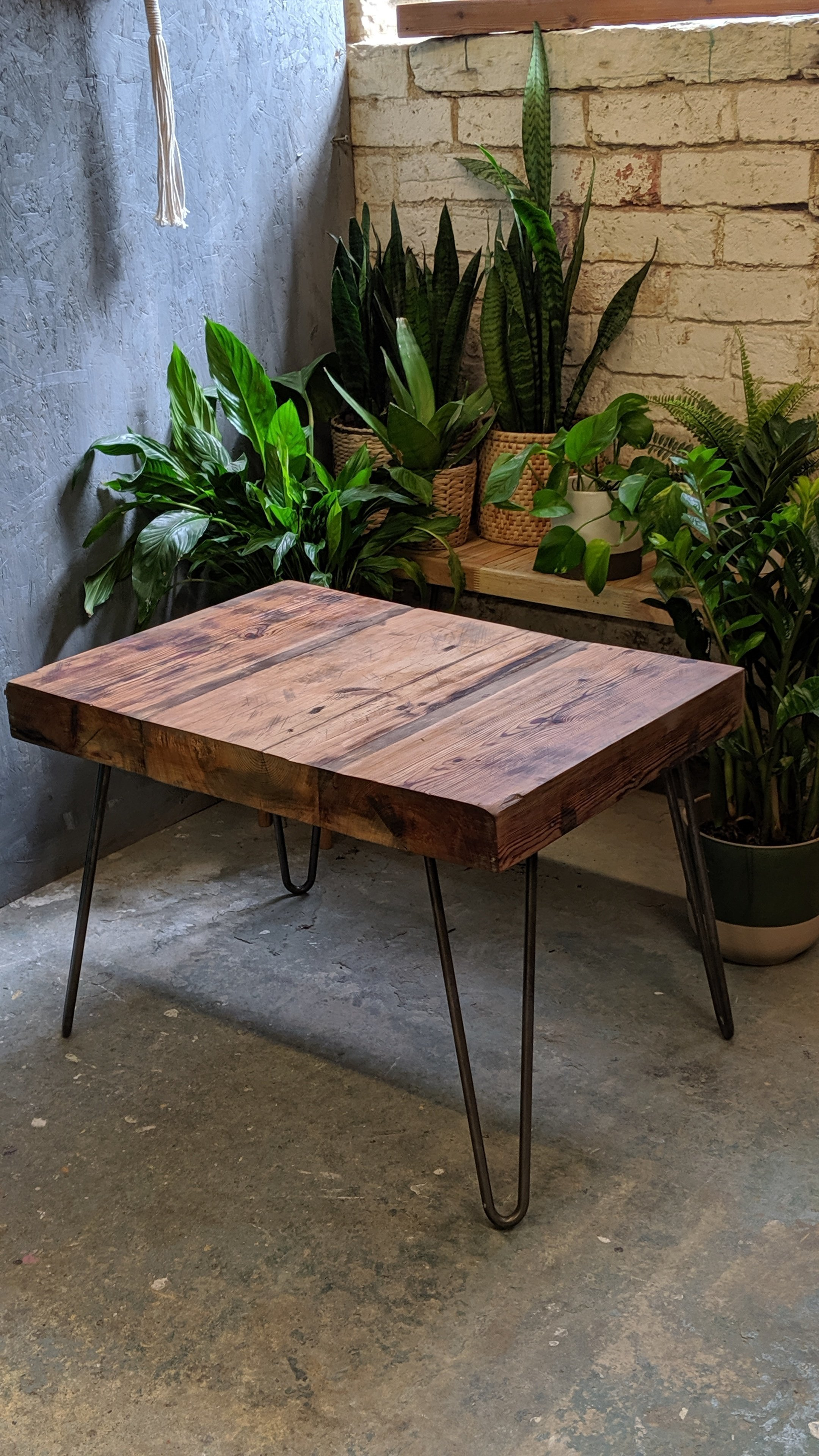 Reclaimed Antique Pine Timber Beam Coffee Table Pine Timber