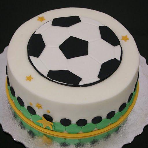 Simple Soccer Cake Soccer Cake Yummy Cakes Cake Toppings