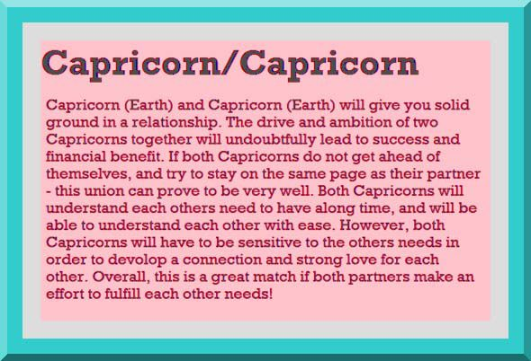 compatibility capricorn capricorn