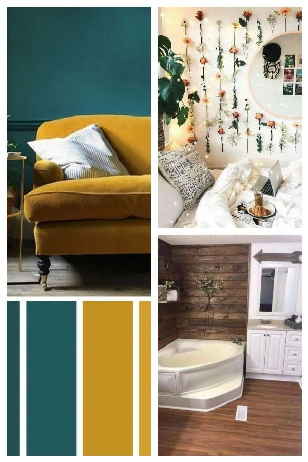 Mustard Teal The Best Living Room Color Schemes With Images Living Room Color Schemes Good Living Room Colors Teal Living Room Decor #teal #and #burgundy #living #room