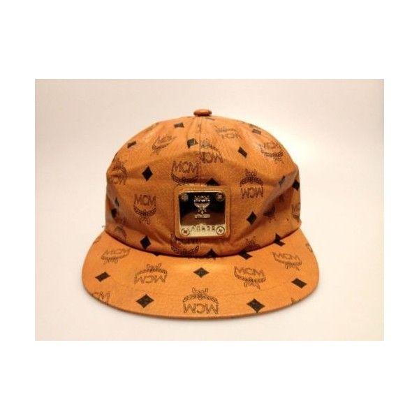 ... ebay new mcm vintage cognac snapback hat cap rare kanye west yeezy tisa  liked 14b5e 3566a ca715c54e6fa