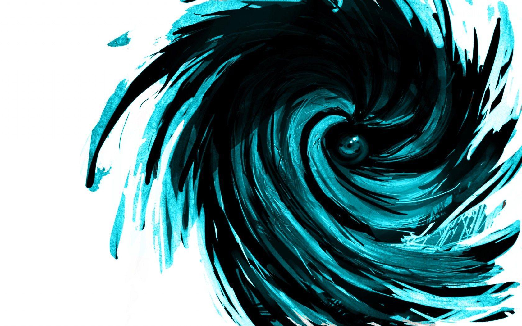 1680x1050 Cool naruto | Vortex, Black white art, Naruto ...