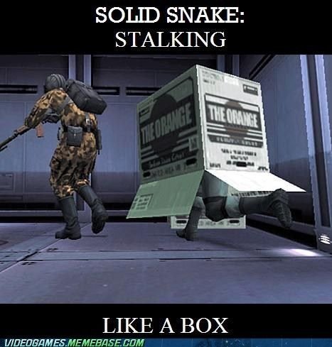 Snake is ninja like that.
