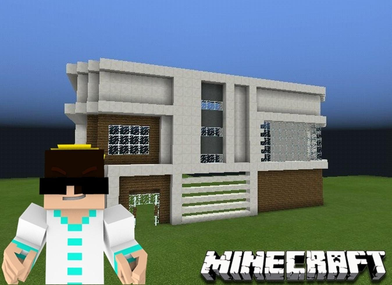 Minecraft PE : COMO CONSTRUIR UMA MANSAO MODERNA!
