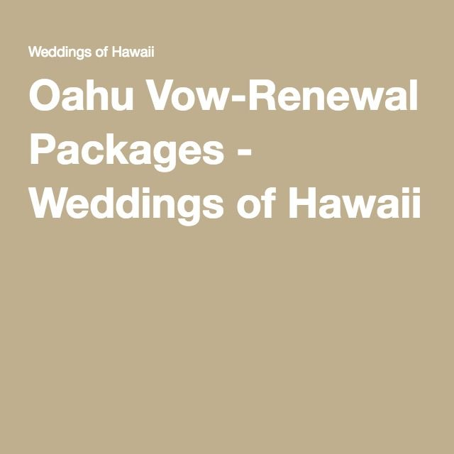Oahu Vow Renewal Packages