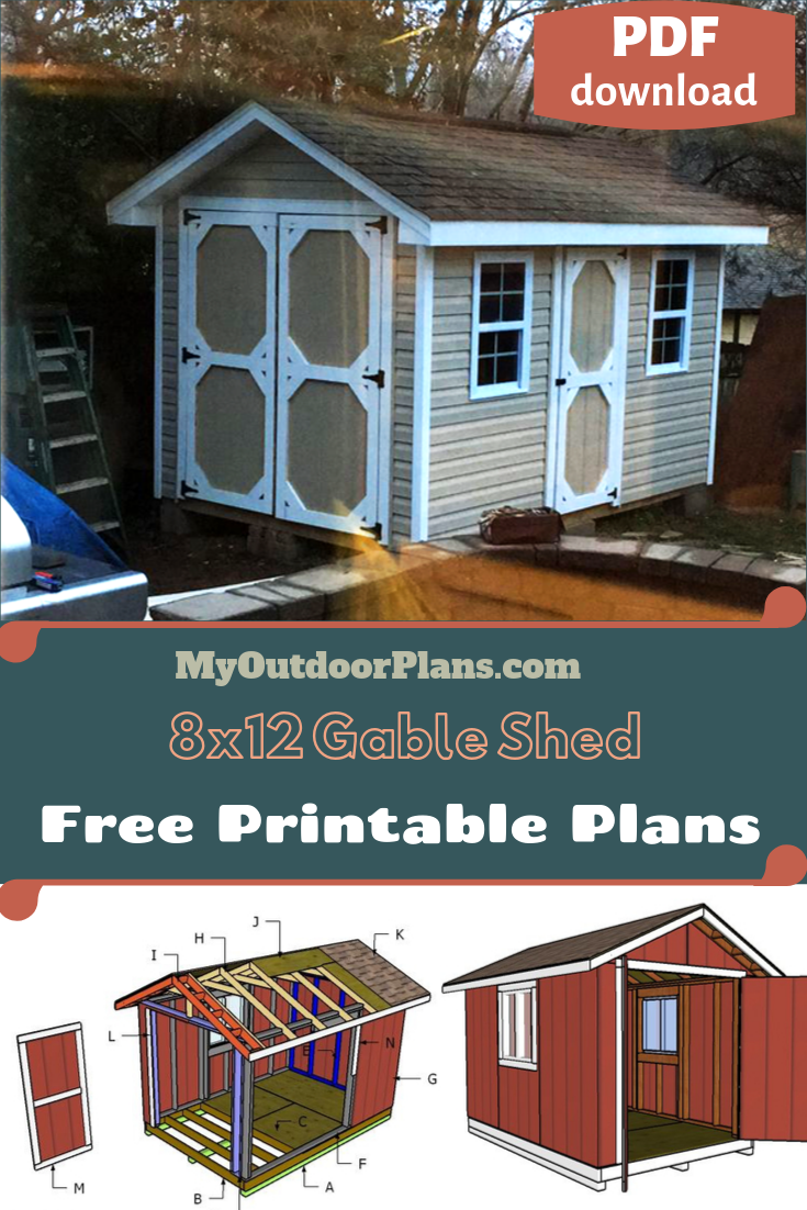 8x12 Gable Shed Plans 8x12 Shed Plans Shed Plans Diy Shed