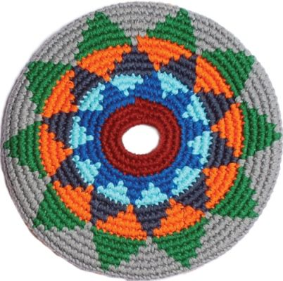 Pocket Disc is great for indoor games and uses. 100% cotton and hand crocheted in Guatemala. Fair trade