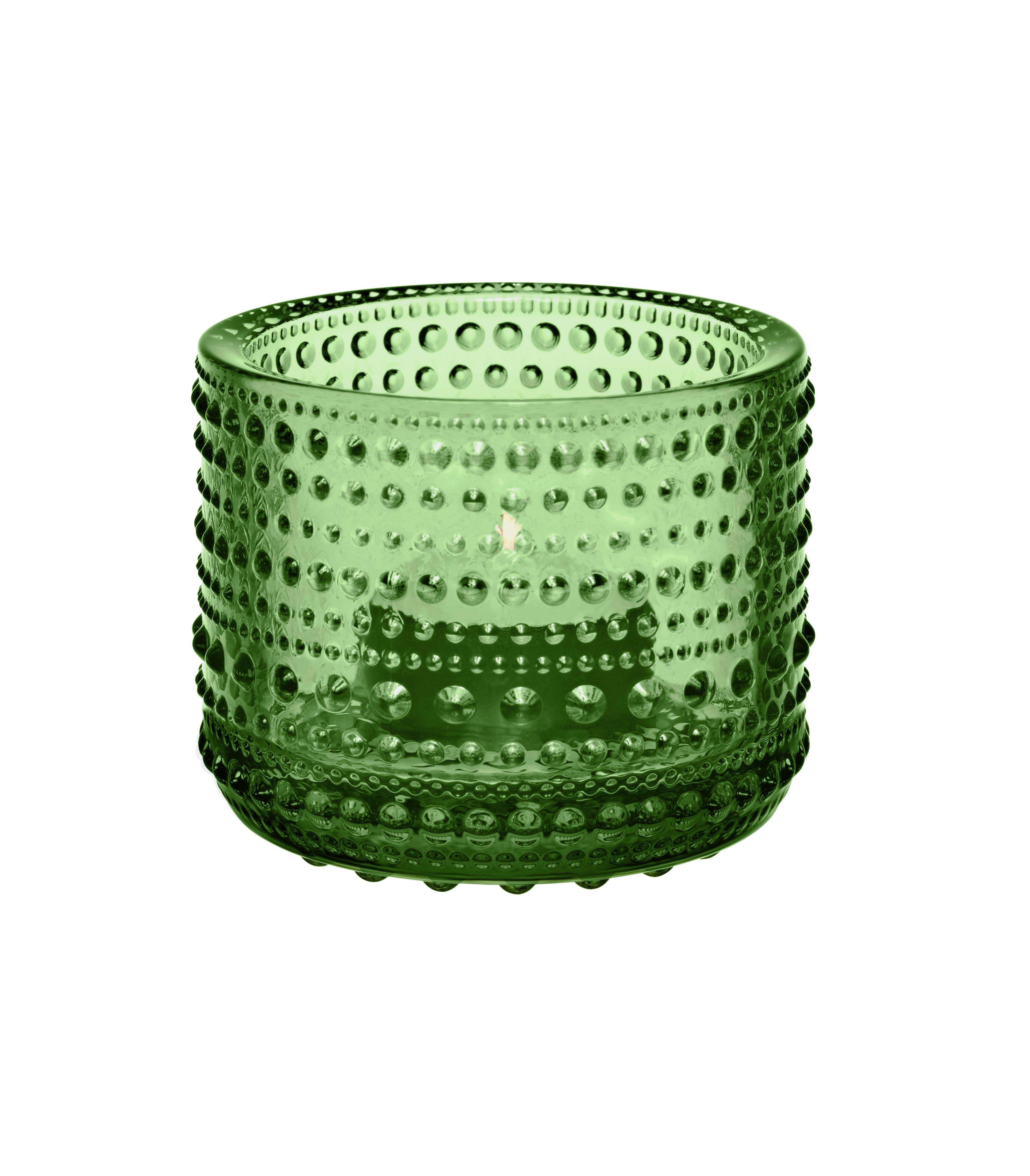 Iittala Gläser iittala glas kastehelmi ljuslykta grön vihreää lasia