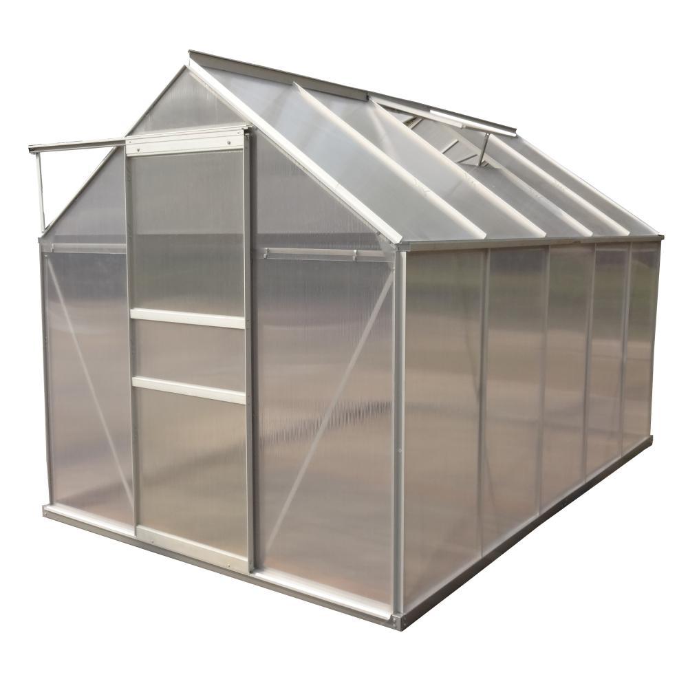 Aleko 6 25 Ft W X 10 16 Ft D X 6 41 Ft H Polycarbonate Greenhouse Polycarbonate Greenhouse Walk In Greenhouse Outdoor Greenhouse