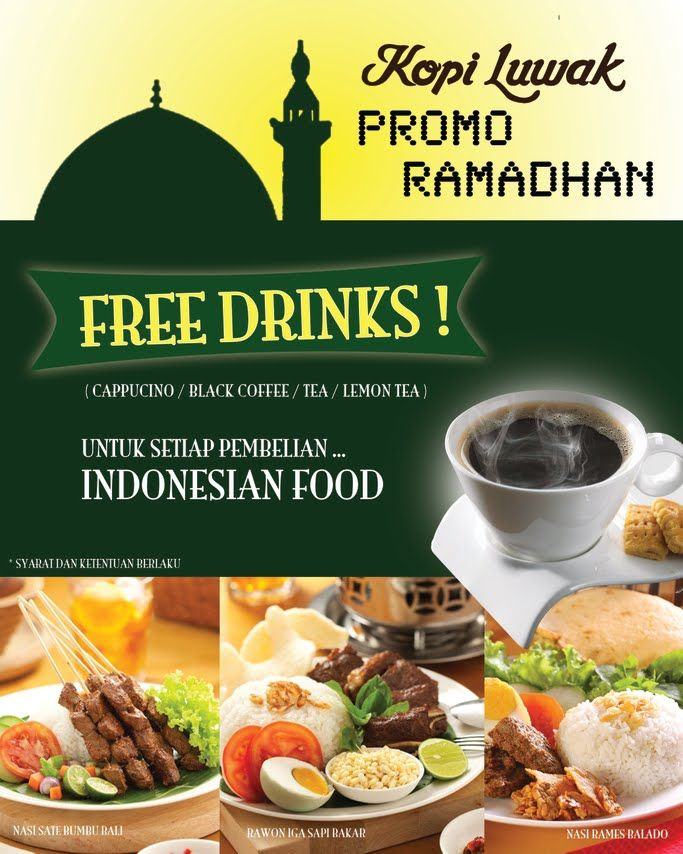 Kopi Luwak Ramadhan Promo With Images Indonesian Food Food Lemon Tea