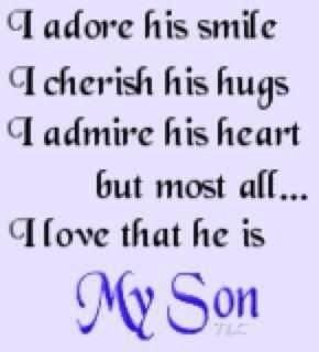 Cute Mommy & Son Quotes :) PLEASE LIKE | Mommy && Son